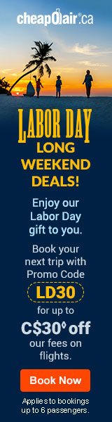 Valentine's Day Savings! Get up to C$10 off◊ our fees on flights Use Code VDAY10 at checkout