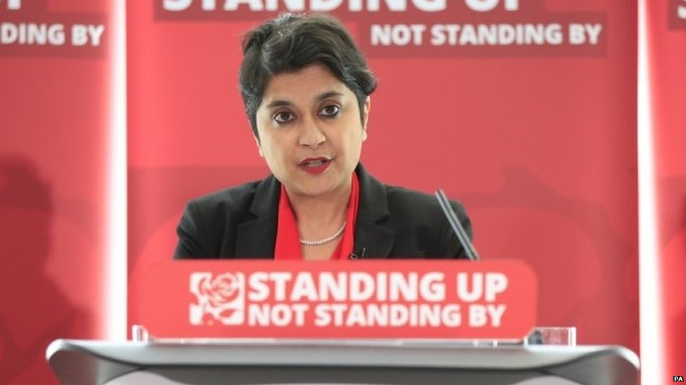 Shami Chakrabarti at the launch of her 2016 report into racism