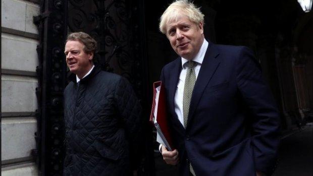Alister Jack and Boris Johnson