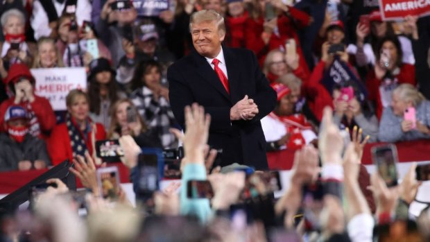Donald Trump among supporters in Georgia