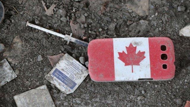 Pertenencias de personas sin hogar en Canadá.