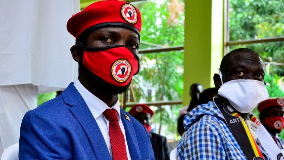 Bobi Wine: Ugandan pop star politician's office raided - BBC News