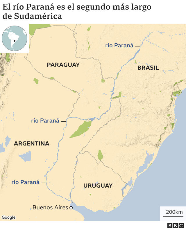 120409727 parana river 640mun nc - Las impactantes imágenes de la mayor sequía en 77 años del río Paraná, el segundo más largo de Sudamérica