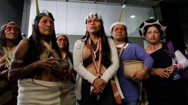 La apelación del Ministerio de Energía obligó a los waorani a trasladarse hasta Quito.