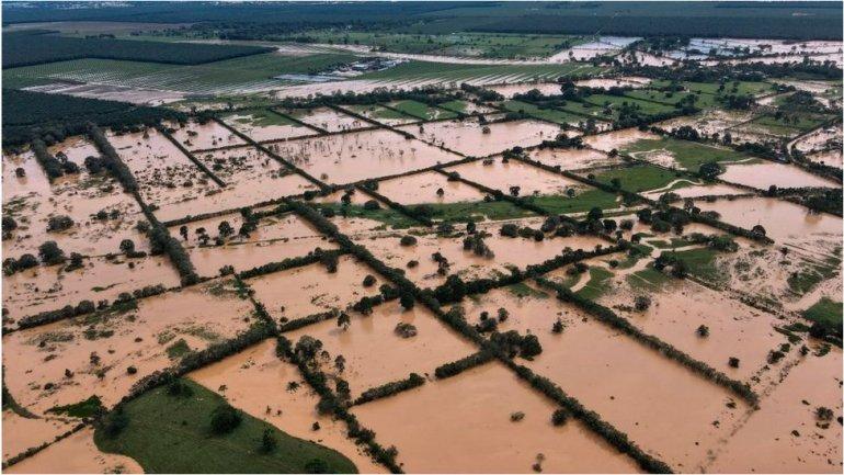 A flood in Guatemala