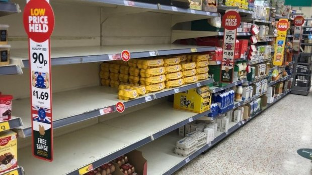 Morrisons shelves cleared