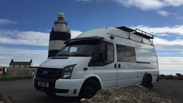 Barny Erdman's home - a Ford Transit van