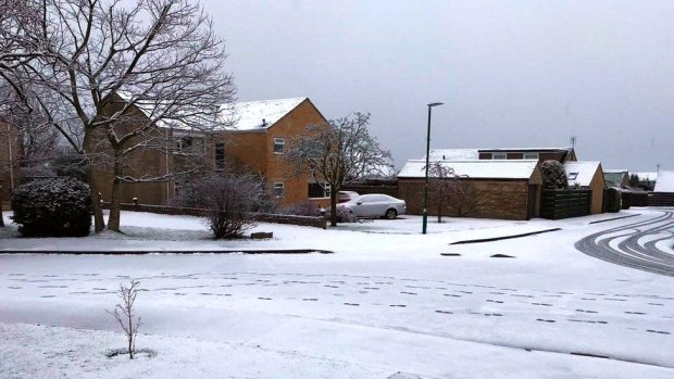 Snow in Stratton, Cirencester