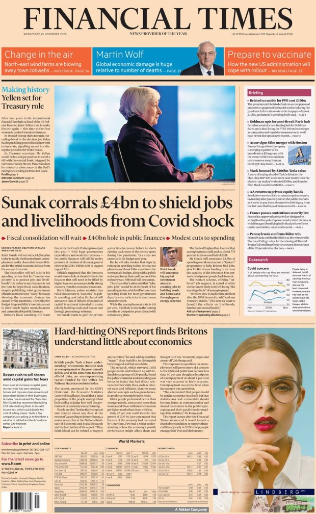 The Financial Times 25 November