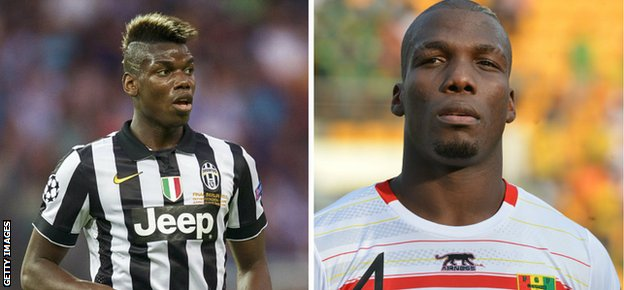 Paul (left) and Florentin Pogba ply their trades at Juventus and St Etienne, respectively