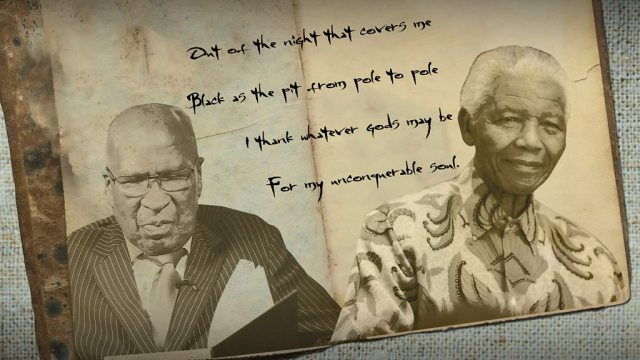 Nelson Mandela's cellmate reads a poem in honour of his friend
