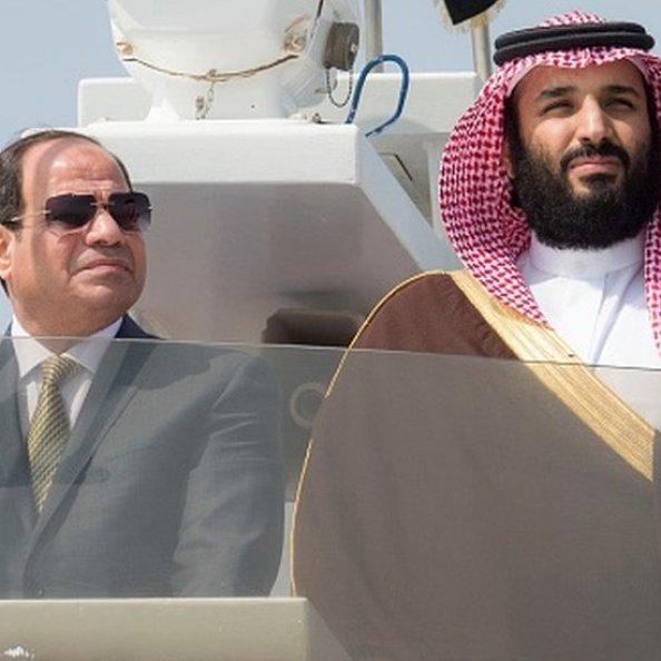 Mısır'ın darbeyle iktidara gelen lideri Sisi ve Suudi Arabistan Veliaht Prensi Muhammed bin Salman