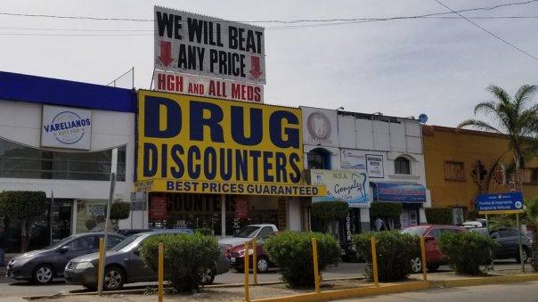Una farmacia en Tijuana