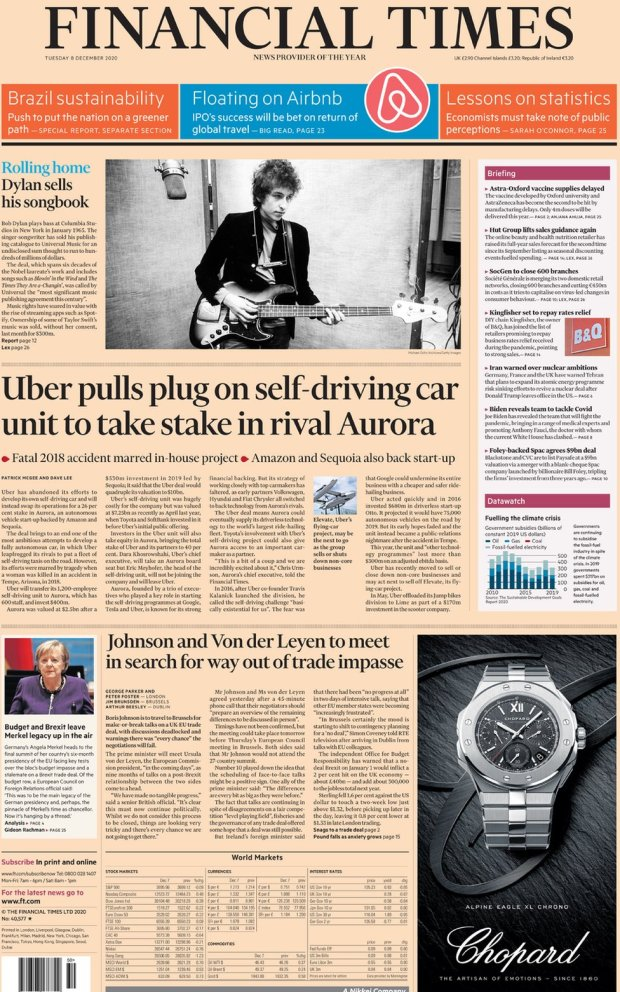 The Financial Times 8 December