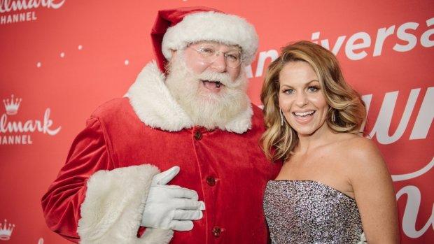 Candace Cameron Bure and Santa Claus