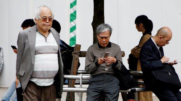 Personas mayores japonesas.