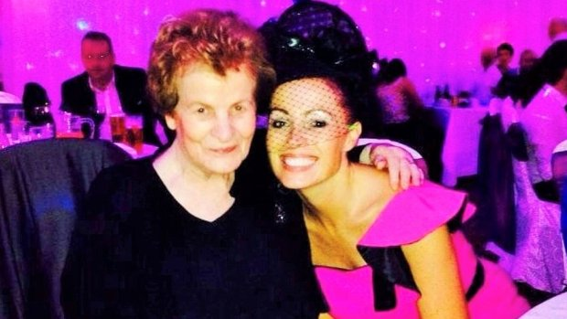 An archive photo of Ursula Derry and her daughter Martina Ferguson at a wedding