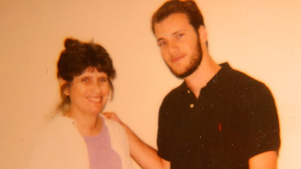 Chesa Boudin and his mother Kathy Boudin in the maximum security prison where she is serving her sentence.