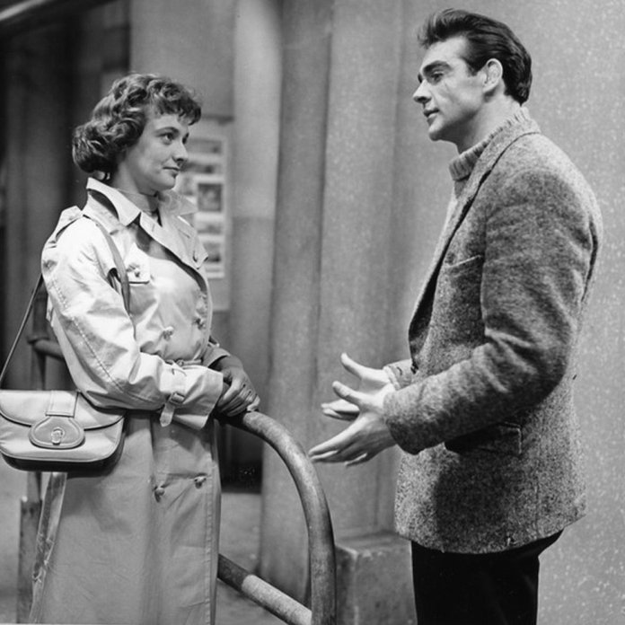 Jacqueline Hill & Sean Connery in the 1957 BBC production, Blood Money