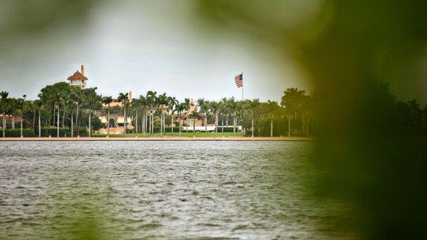 A view of Mar-A-Lago, the Palm Beach, Florida home of Donald Trump from the West Palm Beach
