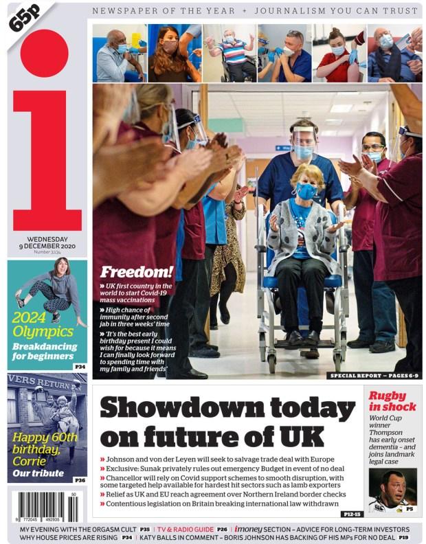 The i newspaper Wednesday 9 December