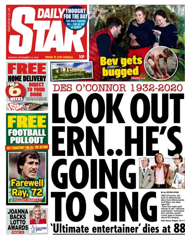 Daily Star Monday 16 Nov