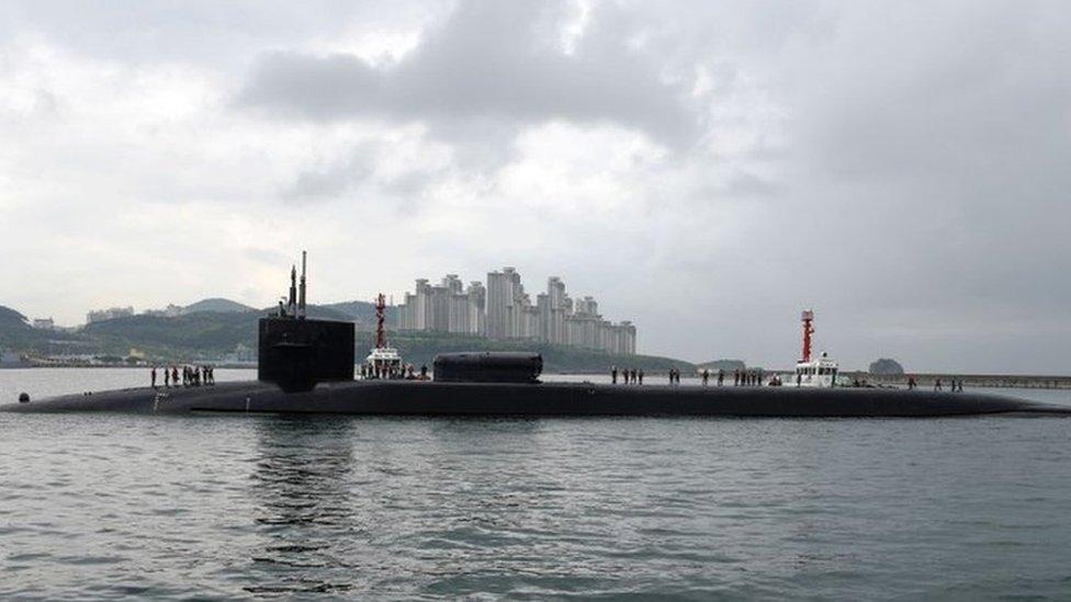 El submarino USS Michigan