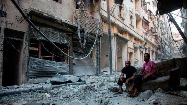 Karm al-Jabal, después de un bombardeo de la coalición liderada por EE.UU. en el que murieron casi 90 soldados sirios, en septiembre de 2016