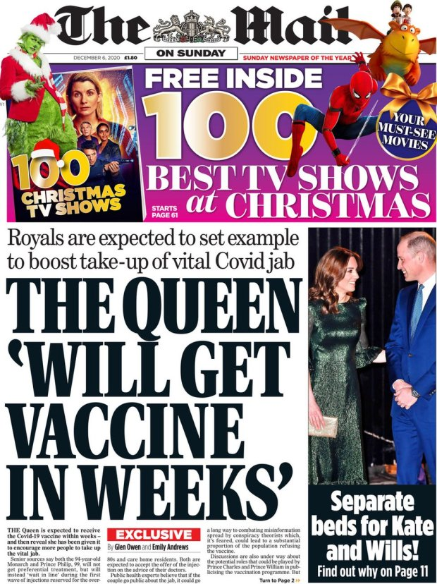 The Mail on Sunday 6 December