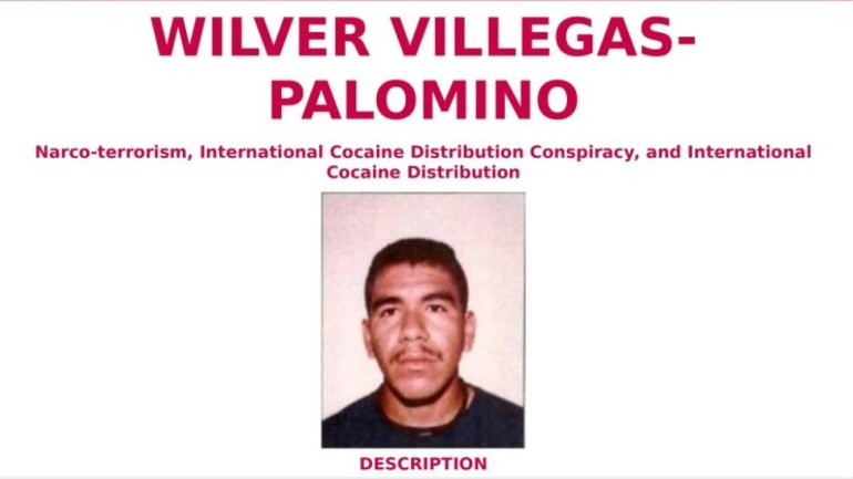 Screengrab of the FBI's Wanted poster for Wilver Villegas Palomino