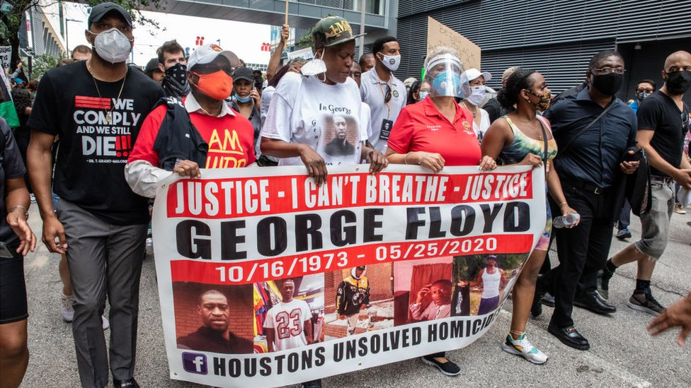 George Floyd's family joined protesters in Houston