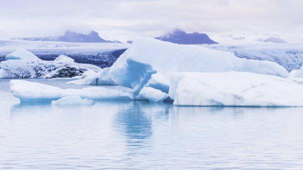 Icebers en el Ártico.