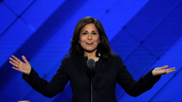 Center for American Progress Action Fund president Neera Tanden speaks on the third day of the Democratic National Convention in Philadelphia, Pennsylvania, U.S. July 27, 2016.