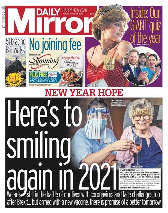 The Daily Mirror 1 January