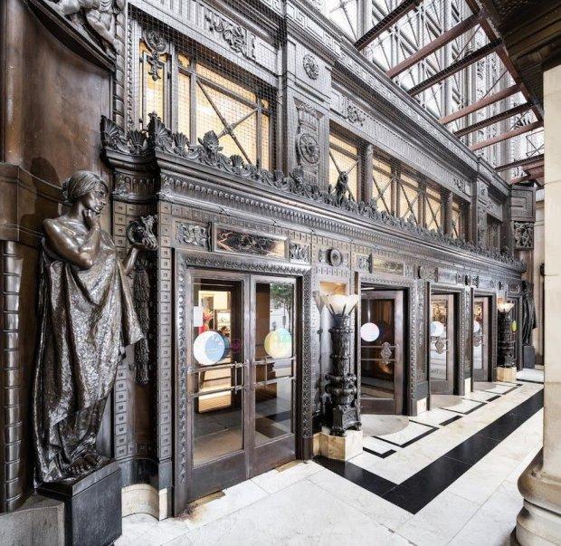 Ornate doors inside Selfridges