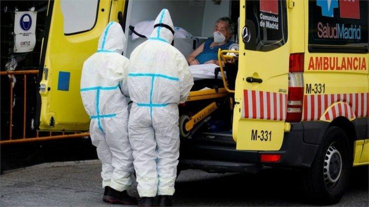 Ambulancia en Madrid.