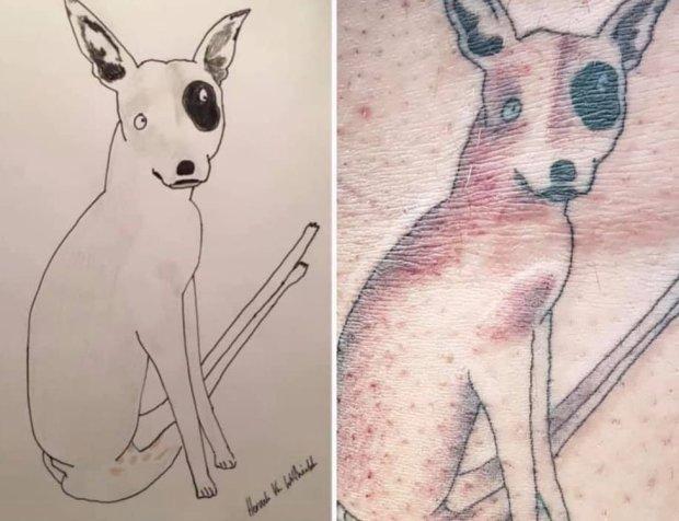 Tattoo of a dog