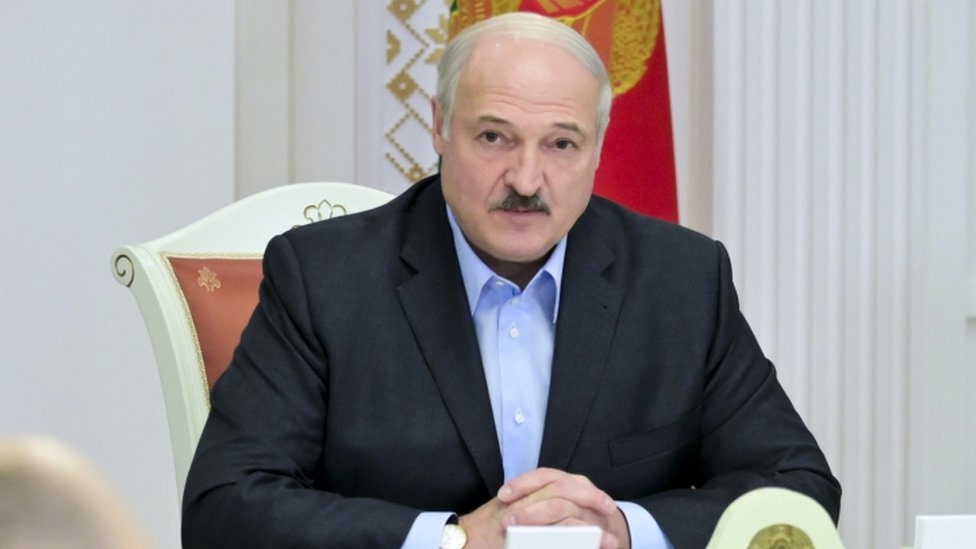 President Alexander Lukashenko at security meeting - 12 September
