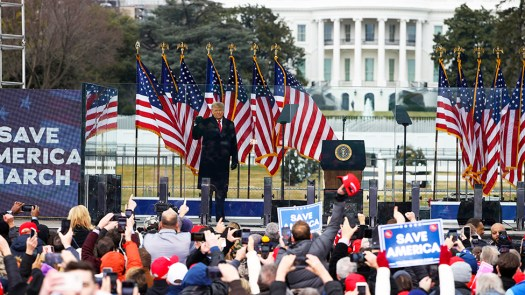 """President Donald Trump arrives at the """"Stop The Steal"""" Rally in Washington, DC - January 06, 2021"""
