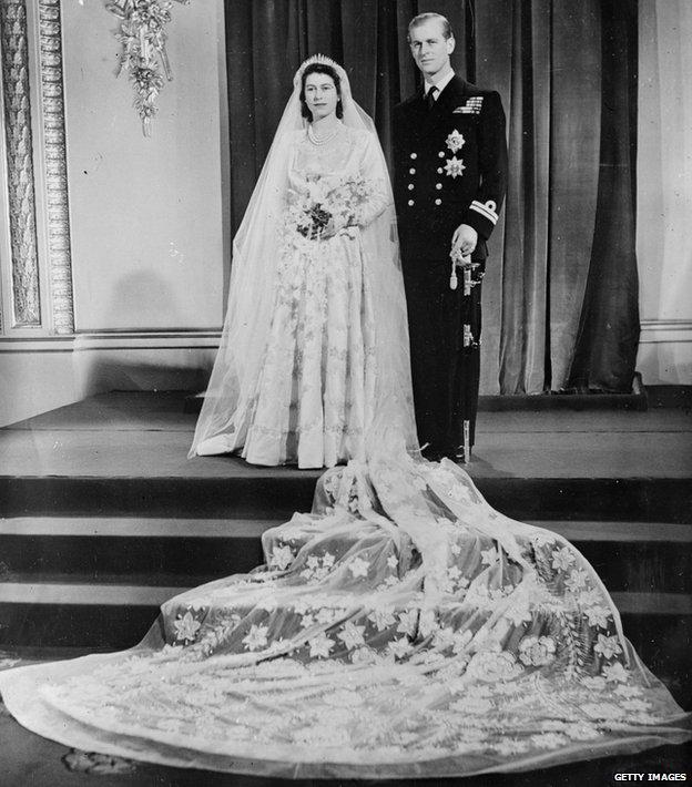 Isabel y Felipe el día de su boda