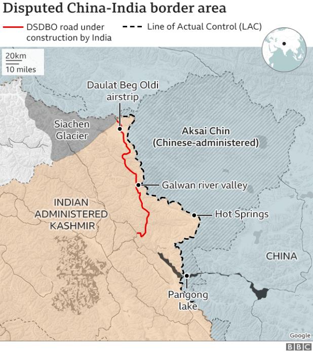 Map of ladakh