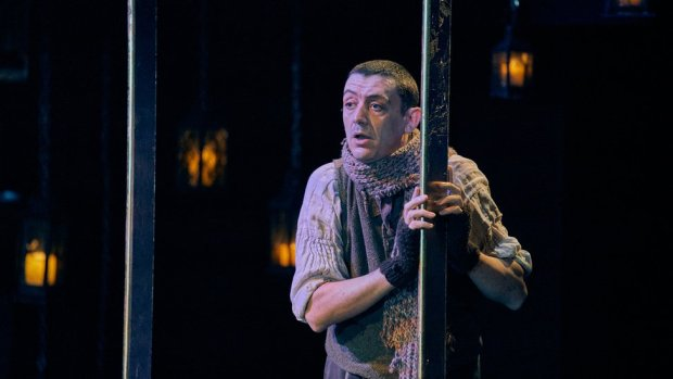 John Dagleish as Bob Cratchit at the Old Vic