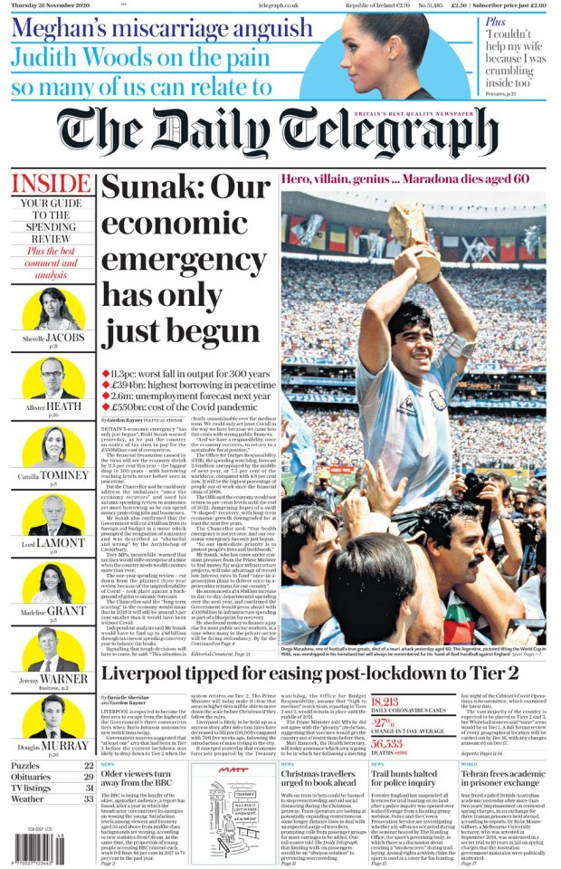 The Daily Telegraph 26 November