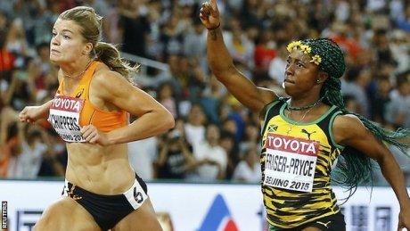 Shelly-Ann Fraser-Pryce wins 100m gold