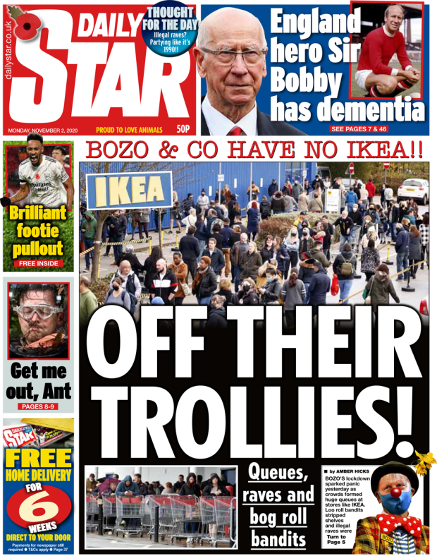 The Daily Star front page 2 November 2020