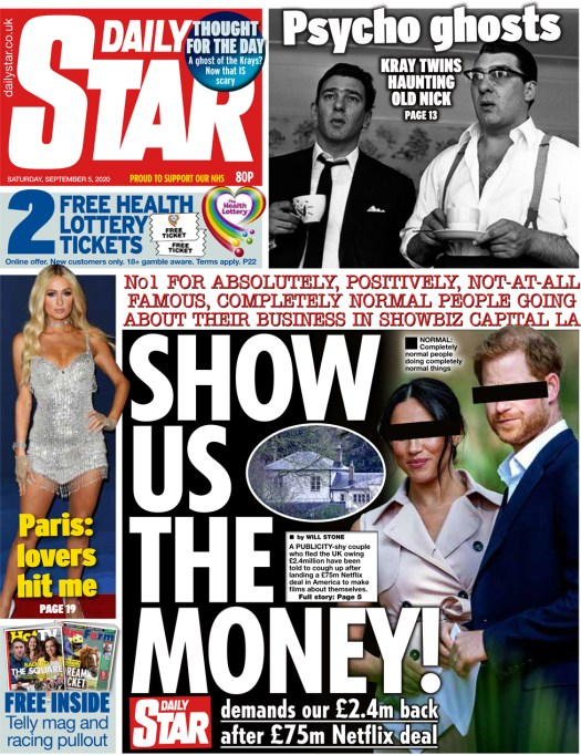 The Daily Star front page 5 September 2020