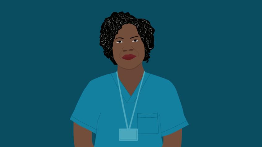 Illustration of Merlande, a nurse