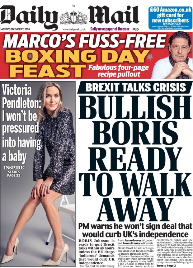 The Daily Mail 7 December