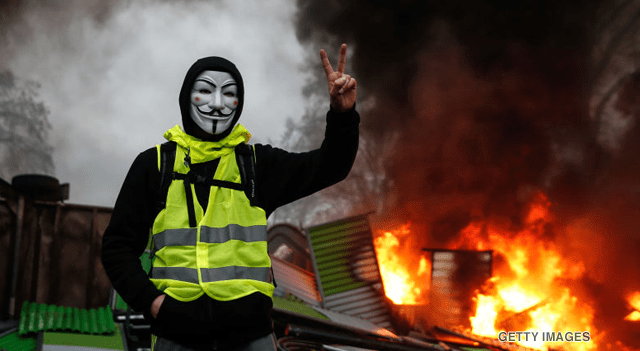 Gilets jaune (yellow vest) protest in France