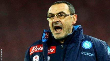 Napoli manager Maurizio Sarri